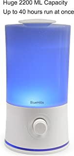 BlueHills Premium 2000 ML XL Large Essential Oil Diffuser Aromatherapy Humidifier for Large Room Home 40 Hour Run Huge Coverage Area Mood Lights 2 Liter Extra Large Capacity Huge Diffuser White (E001)