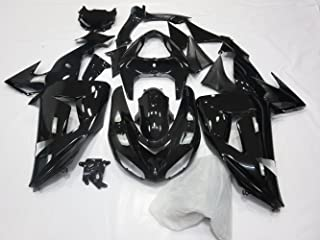 ZXMOTO Glossy Black Painted Fairing Kit BodyWork for KAWASAKI NINJA ZX-10R 2006-2007 ABS Injection Mold