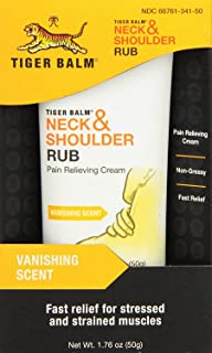 Tiger Balm Neck & Shoulder Rub, 50 g – Shoulder and Neck Topical Relief Cream – Sore Muscle and Joint Relieving Cream – Ef...