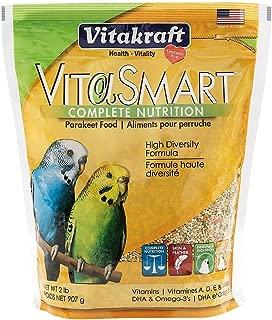 Vitakraft Vitasmart Parakeet Food - High Diversity Formula, 2 Lb.