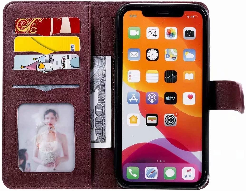 for Nokia 3.4 Case Flip Premium PU Leather Shockproof Wallet Cases with Stand Magnetic Money Pouch Folio Silicone TPU Bumper Gel Shock-Absorption Protective Phone Cover for Nokia 3.4 Red