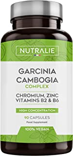 comprar comparacion Garcinia Cambogia | Quemagrasas 100% Natural e Inhibidor del Apetito | Termogénico de Alta concentración 60% HCA | 90 Cáps...