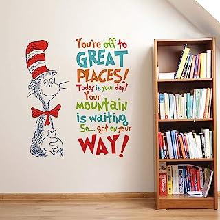 Runtoo Pegatinas de Pared Dr Seuss Stickers Adhesivos Vinilo Letras Frases Decorativas Infantiles Habitacion Bebe