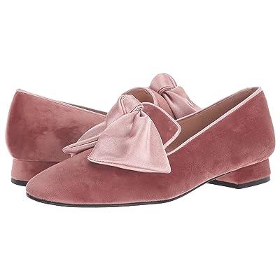 French Sole Church Loafer (Dusty Pink Velvet) Women