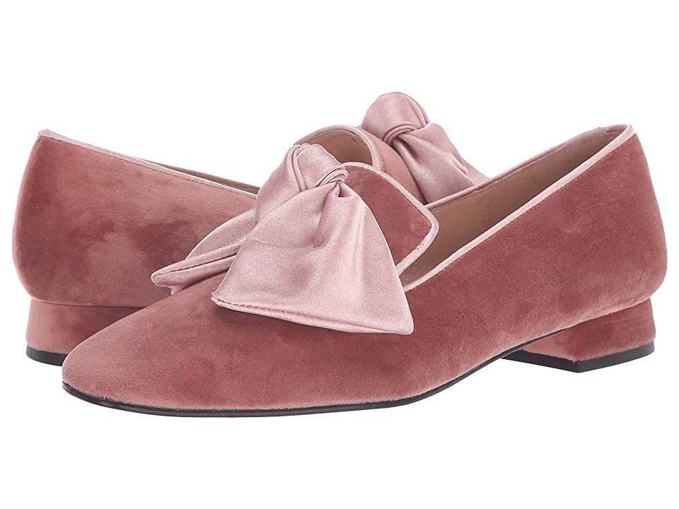 French Sole Church Loafer (Dusty Pink Velvet) Women