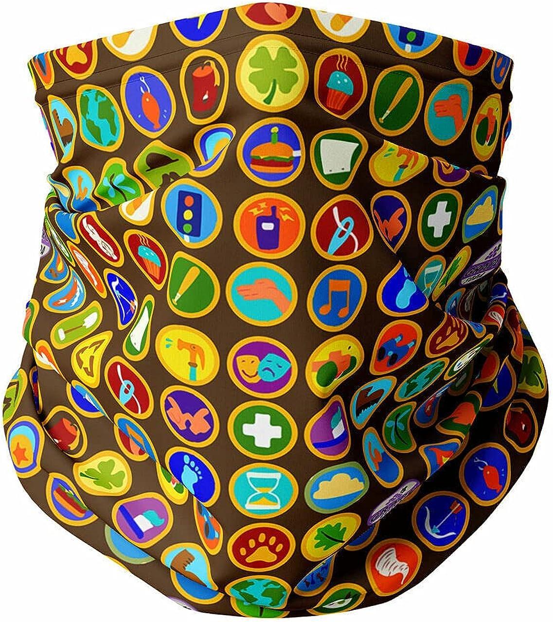 Neck Gaiter Face Covering - Wilderness Explorer Badges Up Inspired