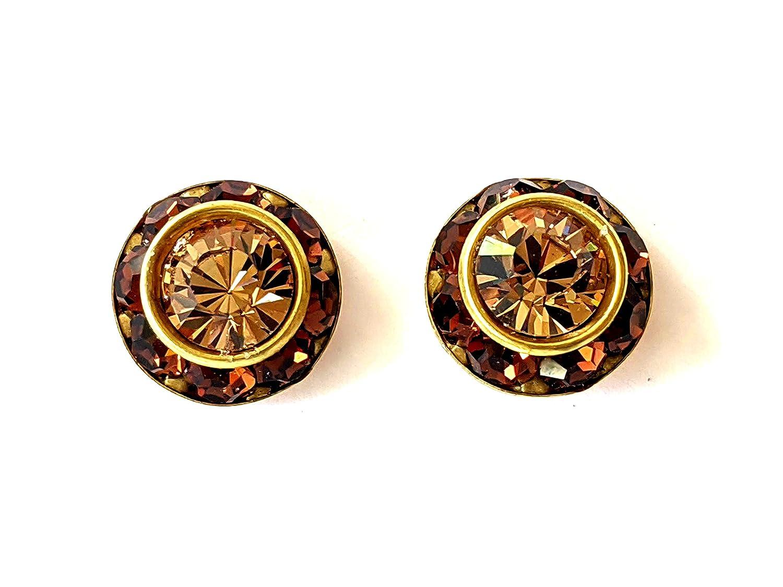 Swarovski Smokey Online limited product Topaz and Time sale Light Go Earrings Stud Colorado