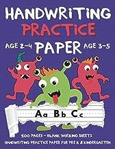 Handwriting Practice Paper: Handwriting Workbook For Pre K, Kindergarten and Kids (Age 2-4, 3-5) - Handwriting Printing Workbook - Lined Paper Handwriting Practice  - Blank 100 Pages 8.5