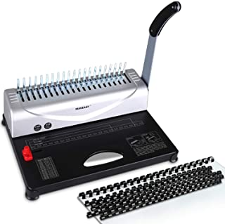 MAKEASY Binding Machine, 21-Hole, 450 Sheet, Paper Punch Binder with Starter Kit 100 PCS..