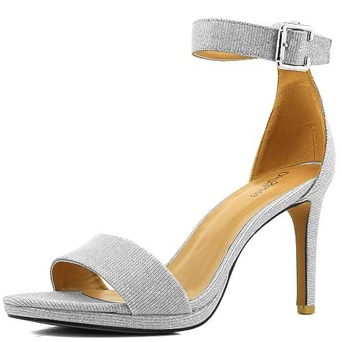 8b51637f4743 Women s High Heel Open Toe Ankle Buckle Strap Platform Evening Dress Casual  Pump Sandal Shoes