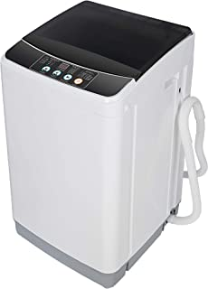 SUPER DEAL Full Automatic Washing Machine 2-in-1 Portable Compact Laundry Washer & Spin Combo with 10 Preset Programs 8 Wa...