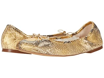 Sam Edelman Felicia (Gold Solari Metallic Snake Leather) Women