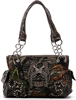 Mossy Oak Camouflage Western Pistol Shoulder Bag Satchel Purse (8793)
