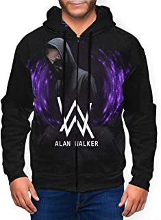Fade Al-an Wa-lker Hoodie Zipper Up Hooded Sweat Tee Shirt Tops Warm Men's Boy Jacket