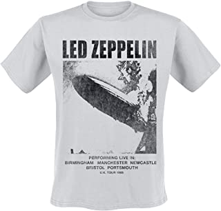 """Unbekannt Led Zeppelin UK Tour """"69 Männer T-Shirt hellgrau, Band-Merch, Bands"""