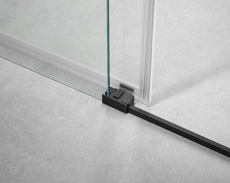 Mampara de Ducha - GME - Basic Black Frontal - 1 Hoja Fija + 1 Hoja Corredera (175-180 cm): Amazon.es: Bricolaje y herramientas