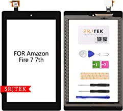 For Amazon Kindle Fire 7 (7th Generation 2017 Release SR043KL) Touch Screen Digitizer Replacement Part with Adhesive, NO LCD, NO Instructions(NOT for 5th Gen, 2015 & 7th kids edition)