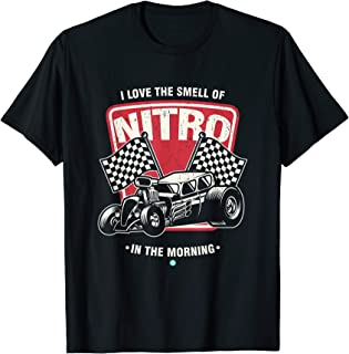 I Love the smell of Nitro in the Morning Drag Racing tee