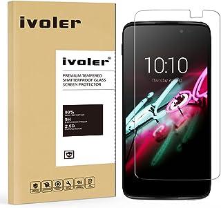 Alcatel Onetouch Idol 3 4,7 tum skärmskydd – iVoler premium härdat glas skärmskydd för Alcatel Onetouch Idol 7,6 cm – 0,2 ...