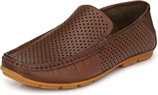 HITZ Tan Leather Loafer for Men