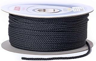 wellenshop Ankerleine 3-schäftig gedreht, Durchmesser 10mm 20/30 / 50m Schwarz Polyester, für Ankerwinden geeignet, Bootsleine Tau Ankerseil Festmacher