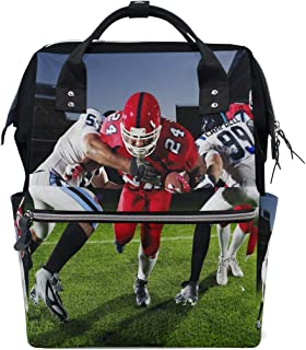 Diaper Bags Football and Super Bowl Sweepstakes Fashion Mummy Backpack Multi Functions Large Capacity Nappy Bag Nursing Bag for Baby Care for Traveling