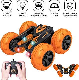 VAZILLIO Exclusive Storm Dancer Stunt Remote Control Car, 2.4GHz RC Road Racer Crawler Tumbler 360 Flips Rally Vehicle, Boys & Girls' Intellectual Toys, Novelty Holiday Birthday Visiting Gift for Kids