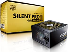 Cooler Master Silent Pro Gold 800W 80 PLUS Gold Power Supply with Modular Cables (RS800-80GAD3-US)