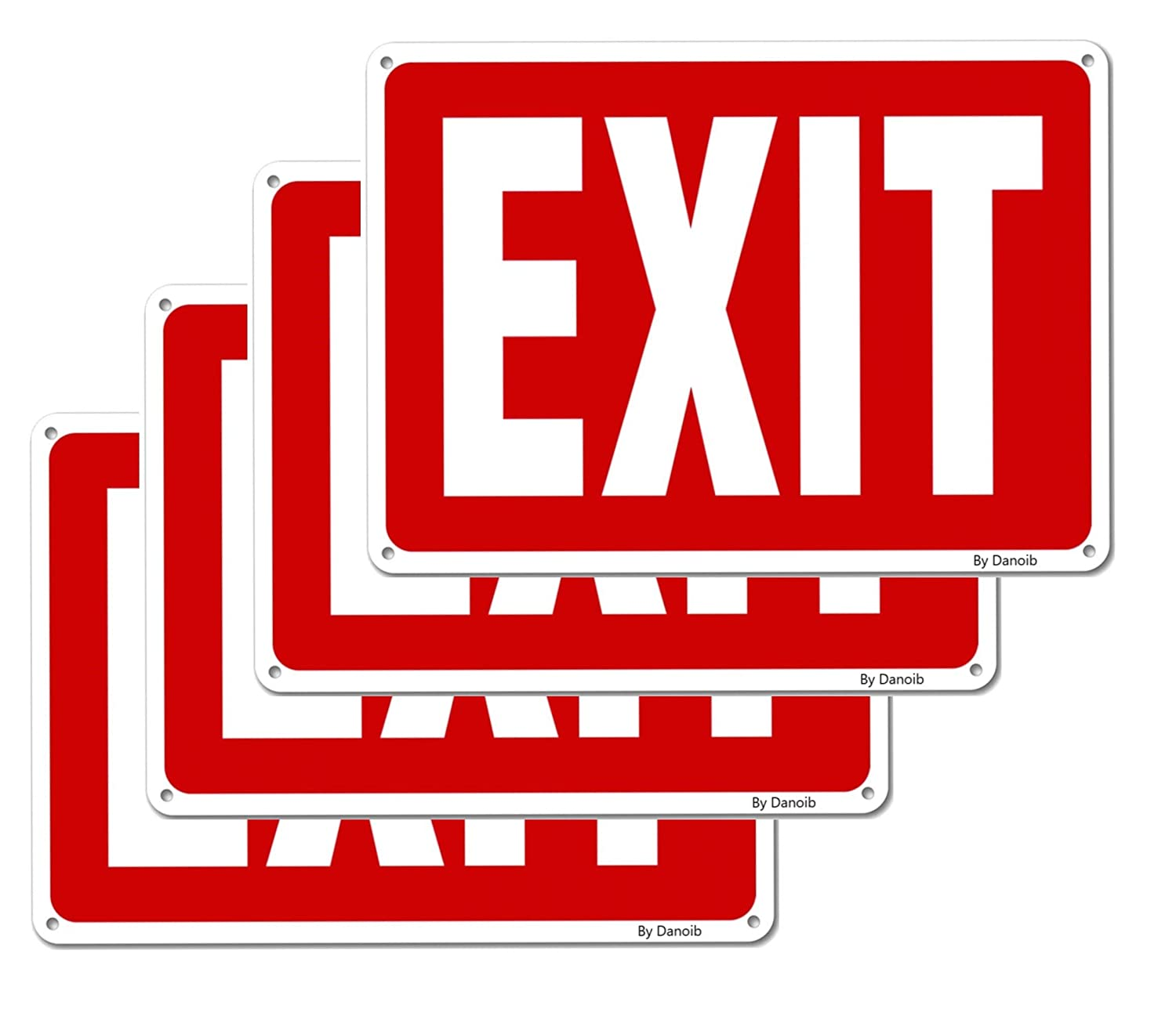 4-Pack Oklahoma Fort Worth Mall City Mall ''EXIT'' Signs Metal 10