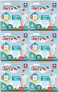 Baby Turco Külot Bebek Bezi Jumbo Beden:6 (16+Kg) X Large 120 Adet (6Pk*20)