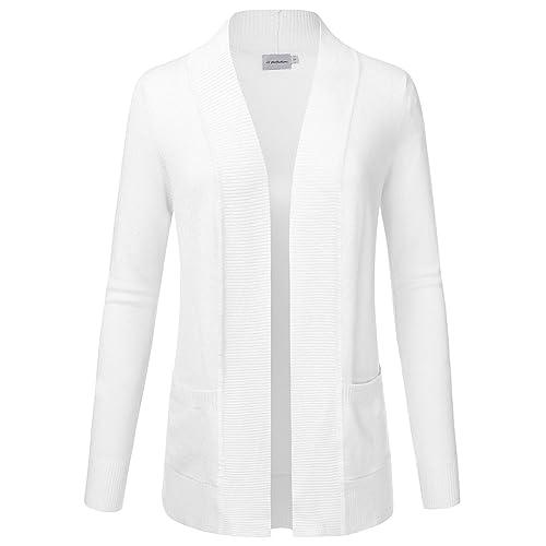 04b70d5f7d7 JJ Perfection Women's Open Front Knit Long Sleeve Pockets Sweater Cardigan