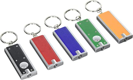 Buck Light: Powerful LED Keychain Lights, 5 Pack, Assorted Colors, Ultra Bright