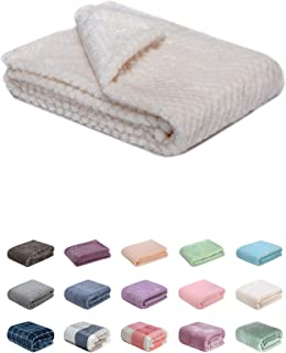 Fuzzy Blanket or Fluffy Blanket for Baby Girl or boy, Soft Warm Cozy Coral Fleece Toddler, Infant or Newborn Receiving Blanket for Crib, Stroller, Travel, Outdoor, Decorative (28 x 40 in, White)