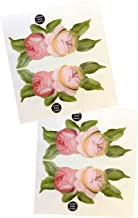 KA Mixer Decal Cover Kit 2x Victorian Vintage Rose Flower Double Stickers Red, Pink, Cream and White, Designed to Fit all Kitchenaid Stand Mixers - Mixer Not Included