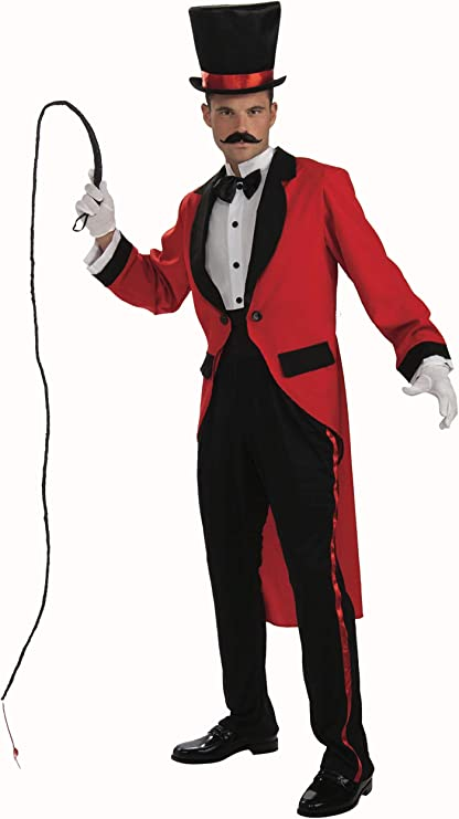 Victorian Men's Costumes: Mad Hatter, Rhet Butler, Willy Wonka Forum Mens Ringmaster Costume - Choose Size  AT vintagedancer.com