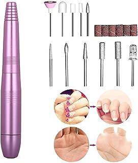 Lima de uñas eléctrica,Taladro para Uñas Acrilico,Kit de Manicura Eléctrico,11 en 1 fresa eléctrica para uñas,manicura,pedicura,kit de pulido,juego para remover gel acrílico