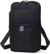 Sentient Wolf Water-Resistant Oxford Fabric Multifunction Phone Bag One Shoulder Phone Waist Bag Diagonal Cross Bag Smart Phone Case Outdoor Bag