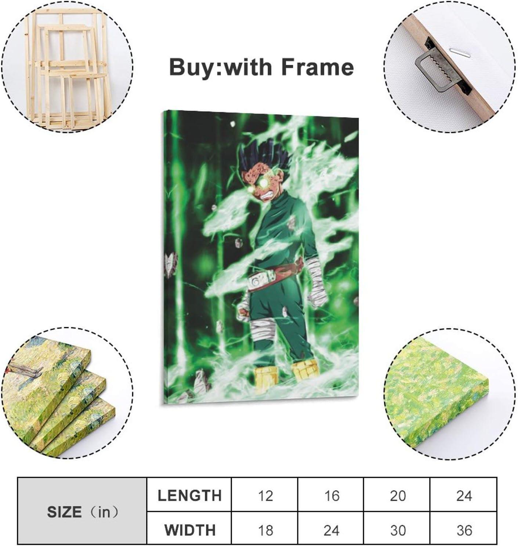 20 x 30 cm WERTF P/óster de anime NARUTO en lienzo y arte de pared impreso moderno para decoraci/ón de dormitorio familiar