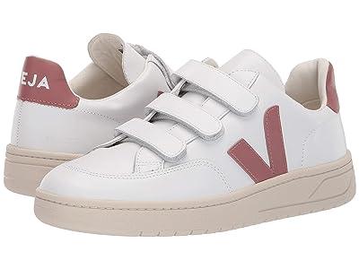 VEJA V-12-Velcro (Extra White/Dried Petale Leather) Women