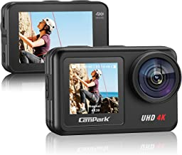Campark V40 4K/30FPS WiFi Action Camera 20MP Touch Screen 40M Waterproof Camera EIS Remote Control Sports Camera with 2X 1...