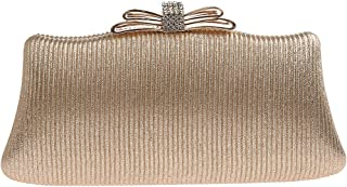 TOOGOO Simple Clutch Bag Casual Dinner Bag Fashion Temperament Handbag Mobile Phone Bag Dress Bag Silver