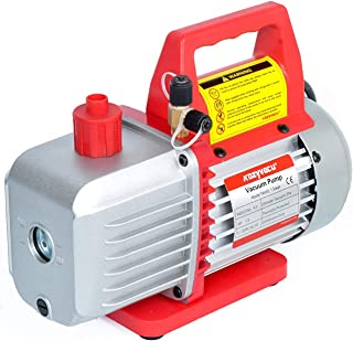 """4.5CFM Single-Stage Rotary Vane Vacuum Pump (4.5CFM, 150 Miron, 1/3HP, 1/4""""Flare 1/2""""Acme Inlet) for HVAC/Auto AC Refriger..."""