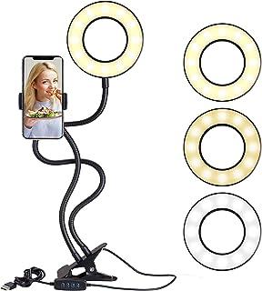 Salandens Selfie Anillo de Luz,LED Libro de Lectura, con Sop