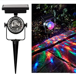 Solar Light, Hatop Solar Garden Party Lights Outdoor Landscape Path Yard Rotating Projector Light