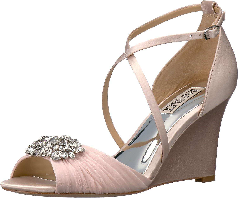 Badgley Mischka Womens Tacey Wedge Sandal