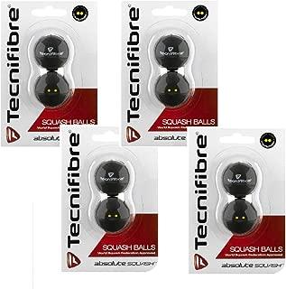 Tecnifibre Double Yellow Dot Squash Balls - 8 Pack