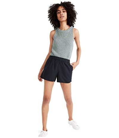 Madewell Pull-On Shorts (Almost Black) Women