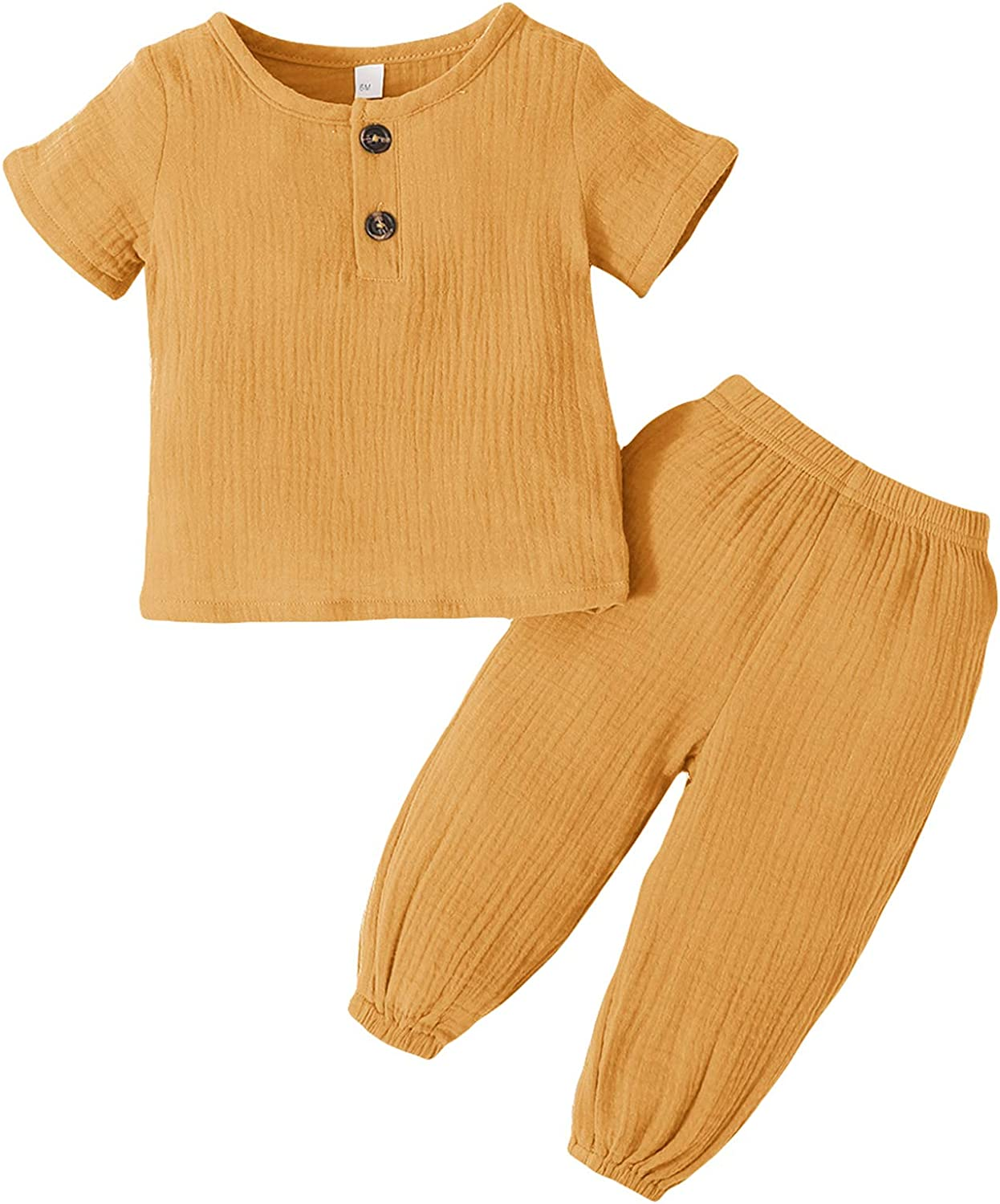 Zexxxy Baby Girls 2 Piece 98% Cotton Outfits Kids & Toddlers Pants Set