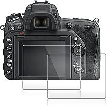 Screen Protector Compatible Nikon D500 D7100 D7200 D800 D800e D810 D750 D600 D610, AFUNTA 2 Pack Camera Anti-Scratch Tempered Glass Foils for DSLR Camera