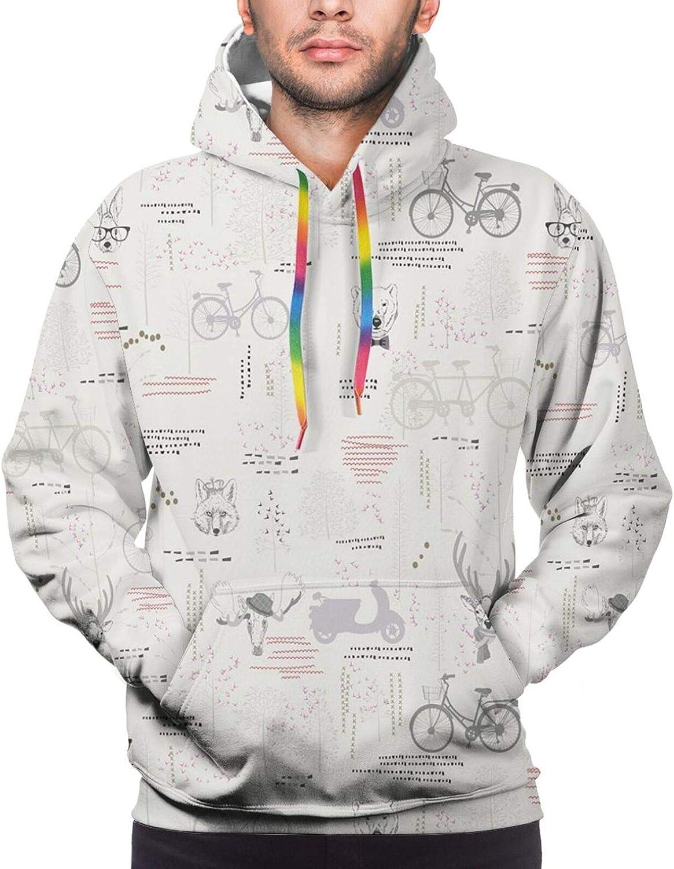 Men's Hoodies Sweatshirts,Minimalist Modern Art Pattern with Stripes and Rectangles Geometric Arrangement